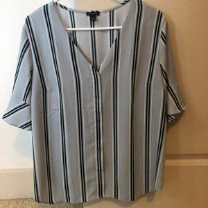 Ann Taylor Short Sleeve Striped Top